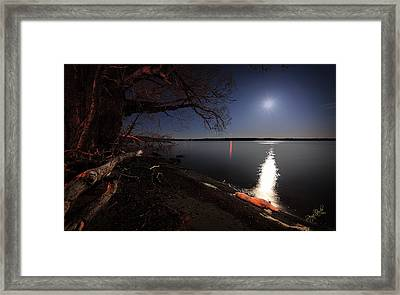 Setting Moon Framed Print by Everet Regal