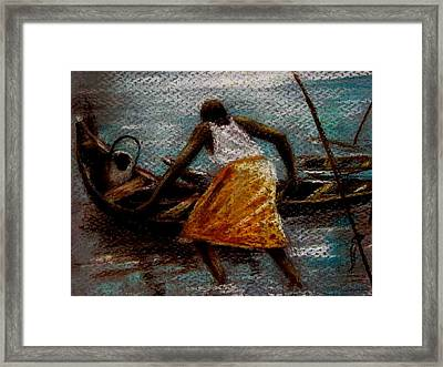 Framed Print featuring the painting Setting Out II by Oyoroko Ken ochuko