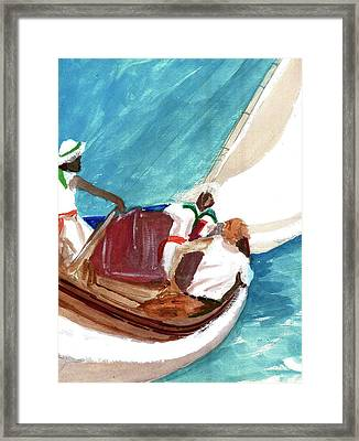 Setting Sail Framed Print by Harry Richards