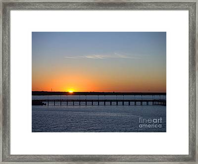 Setting Sun Framed Print by Arthur Herold Jr