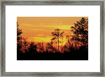 Setting Sun Framed Print by Karen Harrison