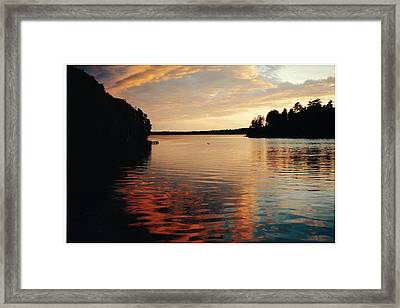 Framed Print featuring the photograph Setting Sun by Patricia Hiltz