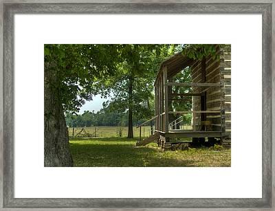 Settlers Cabin Arkansas 1 Framed Print by Douglas Barnett