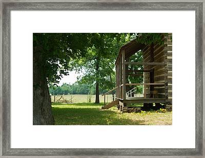 Settlers Cabin Arkansas 4 Framed Print by Douglas Barnett