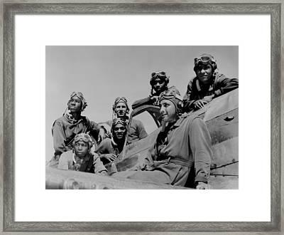 Seven African American Fliers Framed Print