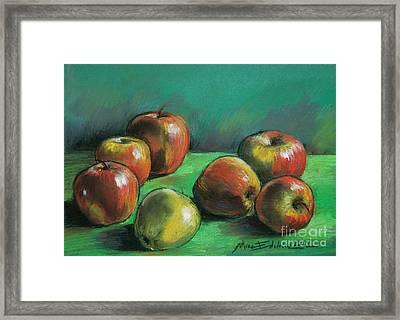 Seven Apples Framed Print