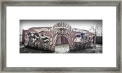 Seven Deadly Sins Framed Print by Gregory Dyer