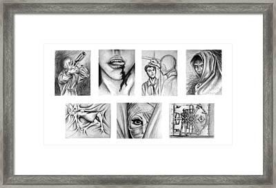 Seven Deadly Sins Framed Print by Steven  Burkett