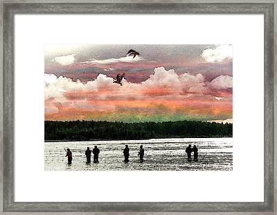 Seven Fishermen Framed Print