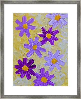 Seven Flowers Framed Print by Heidi Smith