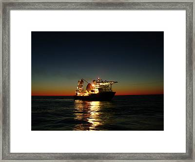 Framed Print featuring the photograph Seven Navica Just Before Dawn by Charles and Melisa Morrison