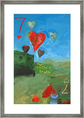 Seven Of Hearts 38-52 Framed Print by Cliff Spohn