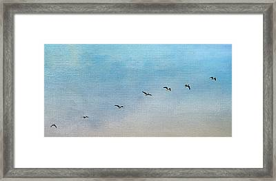 Seven Framed Print by Rebecca Cozart