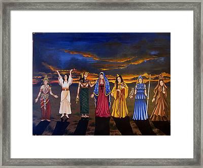 Seven Sisters Framed Print
