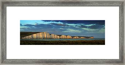 Seven Sisters Panorama Framed Print by Mark Leader