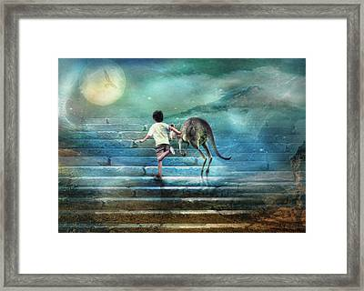 Seven Steps To The Moon Framed Print by Trudi Simmonds