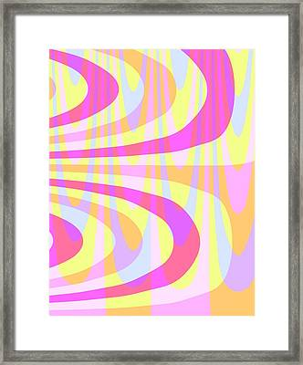Seventies Swirls Framed Print by Louisa Knight