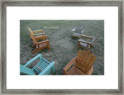 Several Lawn Chairs Scattered Framed Print by Joel Sartore