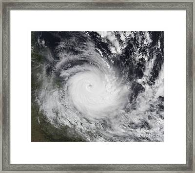 Severe Tropical Cyclone Hamish Framed Print by Stocktrek Images