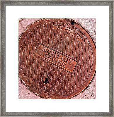 Framed Print featuring the photograph Sewer Cover by Bill Owen