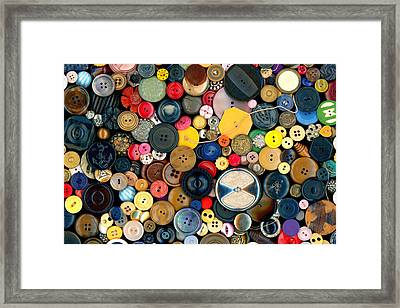 Sewing - Buttons - Bunch Of Buttons Framed Print