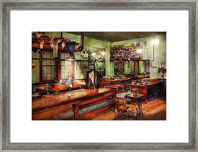 Sewing - Industrial - The Sweat Shop  Framed Print by Mike Savad