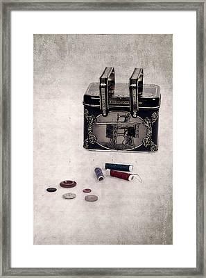 Sewing Box Framed Print by Joana Kruse