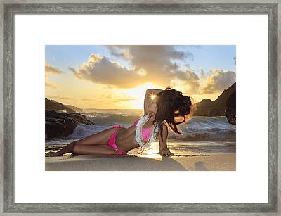 Sexy Woman At Eternity Beach Framed Print by Tomas del Amo - Printscapes