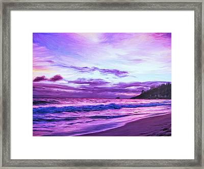 Seychelles Sunset Framed Print by Dominic Piperata