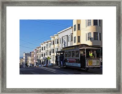 Sf Cable Car Framed Print