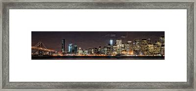 Sfo At Nite Framed Print by Gary Rose