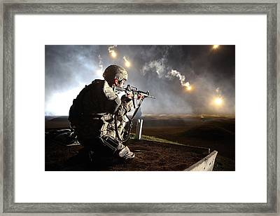 Sgt. Larry J. Isbell During The Armys Framed Print