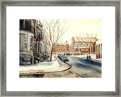 Shaar Hashomayim Westmount Montreal  Framed Print by Carole Spandau