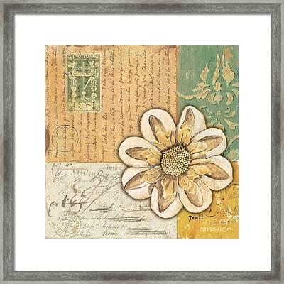 Shabby Chic Floral 2 Framed Print