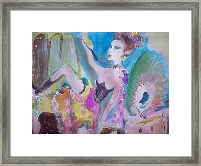 Shabby Chic The Dancer Framed Print by Judith Desrosiers