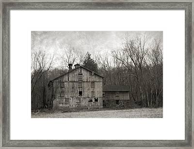 Shabby Old Cupola Barn Framed Print by John Stephens