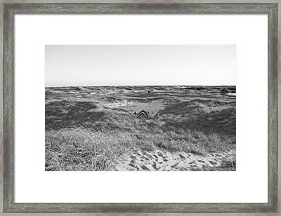 Shackleford Banks Camping Framed Print