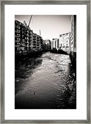 Framed Print featuring the photograph Shad Thames Wharf by Lenny Carter