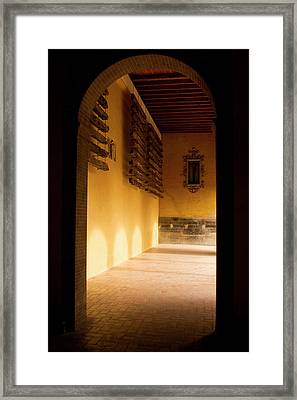 Framed Print featuring the photograph Shaded Portal by Lorraine Devon Wilke