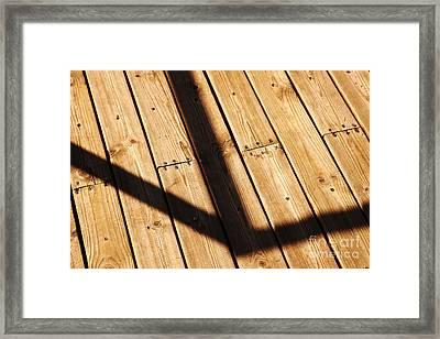 Shaded Walkway Floor Framed Print