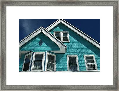 Shades Of Blue Framed Print by Mark Gilman