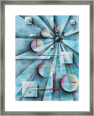 Shades Of Fibonacci Framed Print by Hakon Soreide