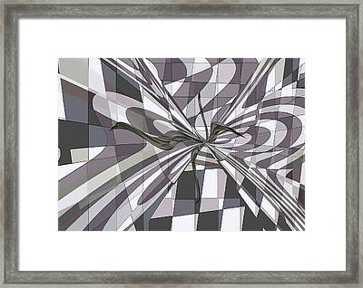 Framed Print featuring the digital art Shades Of Gray by Ginny Schmidt
