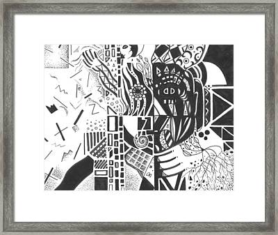 Shades Of Gray Framed Print