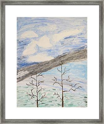 Framed Print featuring the painting Shades Of Nature by Sonali Gangane
