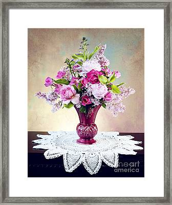 Framed Print featuring the photograph Shades Of Pink by Cheryl Davis