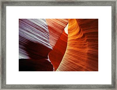 Shades Of Red - Antelope Canyon Az Framed Print by Christine Till