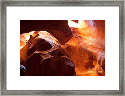 Shades Of Reflections Framed Print by Bob and Nancy Kendrick