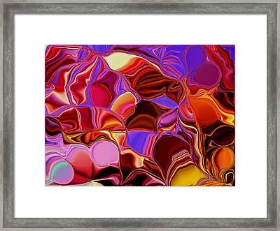 Shades Of Satin Framed Print by Renate Nadi Wesley