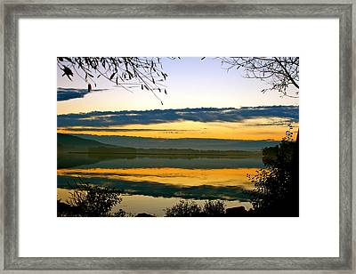 Shades Of Sundown Framed Print by Mike Stouffer